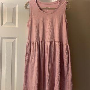 Pink / Mauve Oversized Babydoll Tank Top Dress